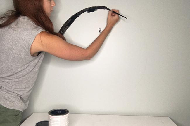 Learn how to make a chalkboard out of a hula hoop and how to attach a hula hoop the wall!
