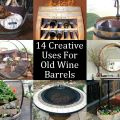 Old wine barrels may not seem like they would be a stylish addition to