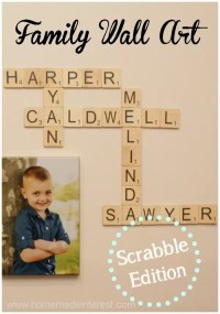 Family Wall Art: Scrabble Edition