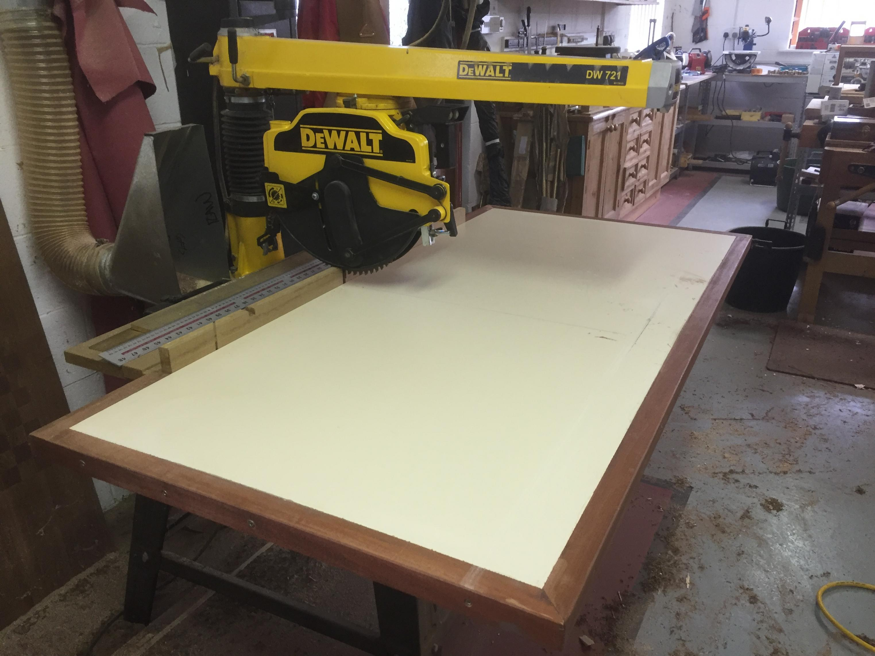 Dewalt Radial Arm Saw Table Dimensions