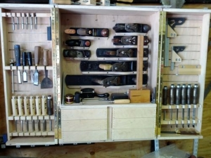 Homemade Woodworking Tool Cabinet