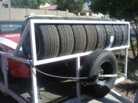 Homemade Trailer Tire Rack - HomemadeTools.net