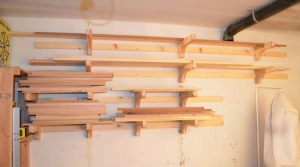 homemade french cleat lumber storage