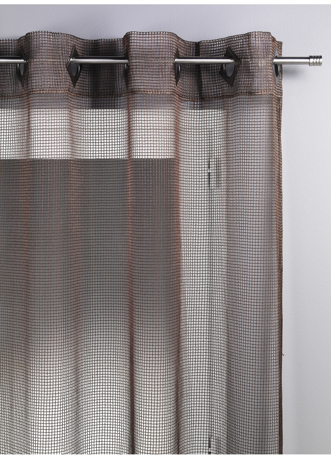 Voilage Filet Chocolat Bordeaux Bambou Prune