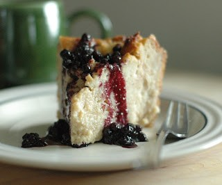 Rainy Day Bread Pudding Recipe with Blueberry Sauce