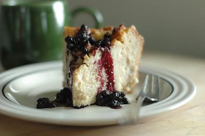 BreadPuddingwithBlueberrySauce