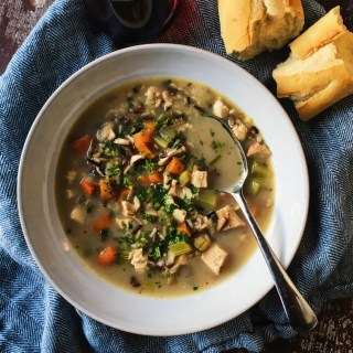 Roasted Chicken, Mushroom and Wild Rice Soup Recipe
