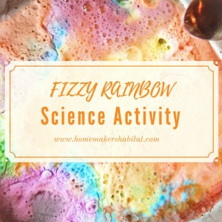 Easy Kids Activity: Fizzy Rainbow Science