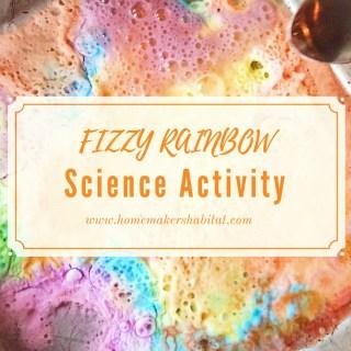 Easy Kids Activity: Fizzy Rainbow Science