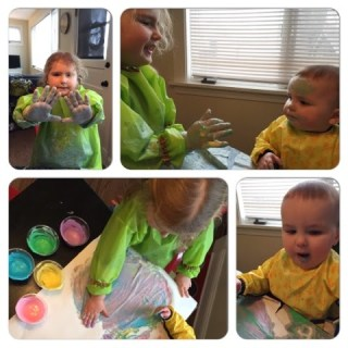 Crafternoons: Greek Yogurt Edible Finger Paints