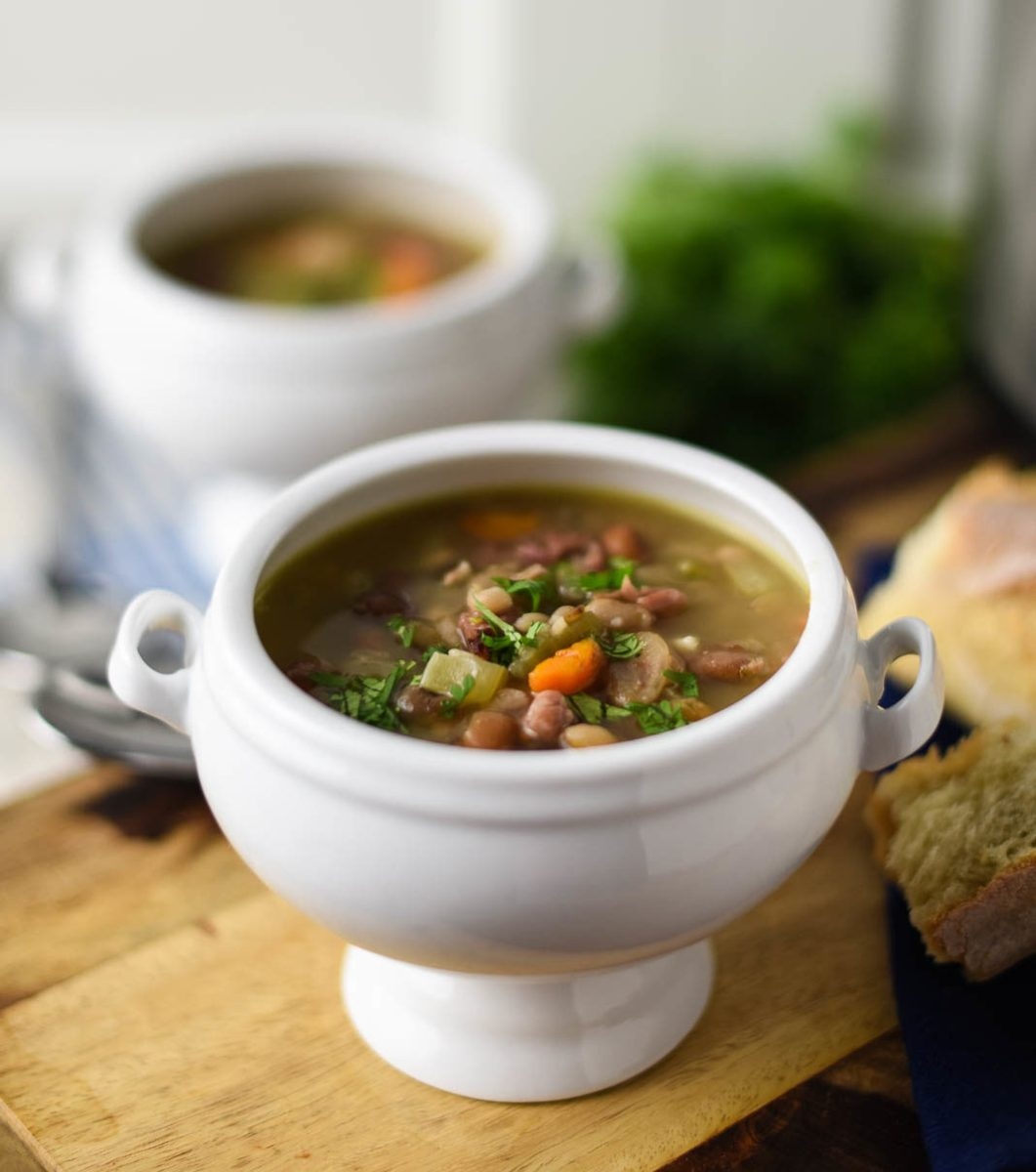 15-Minute 15-Bean and Ham Soup in the Multi Cooker