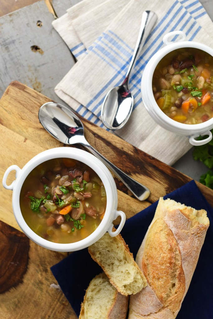 15 Minute 15 Bean and Ham Soup