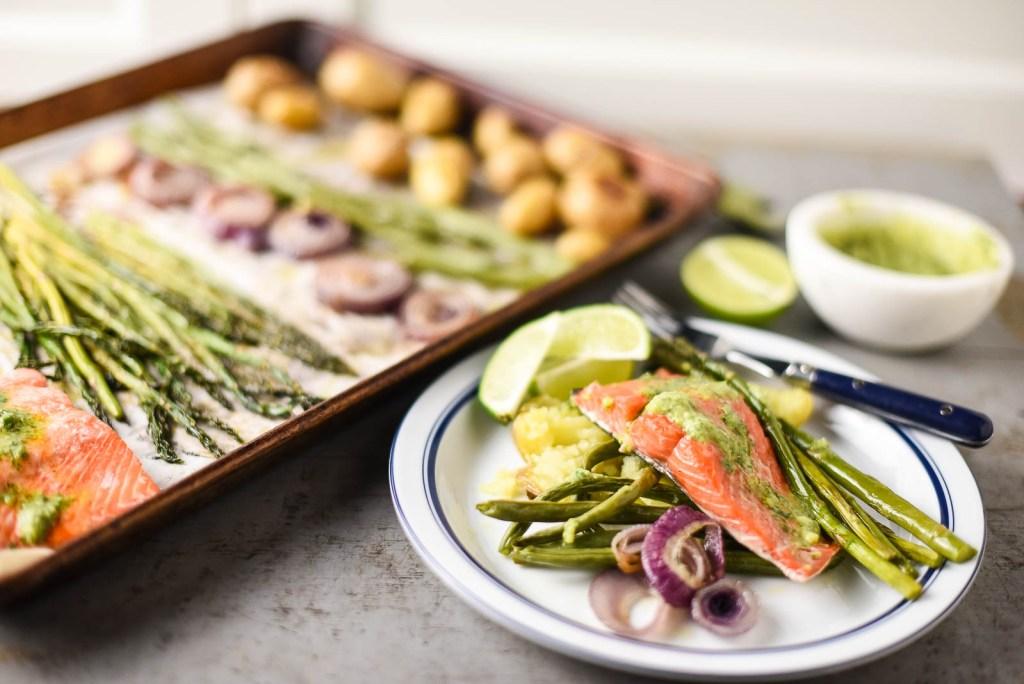 Sheet Pan Salmon Dinner