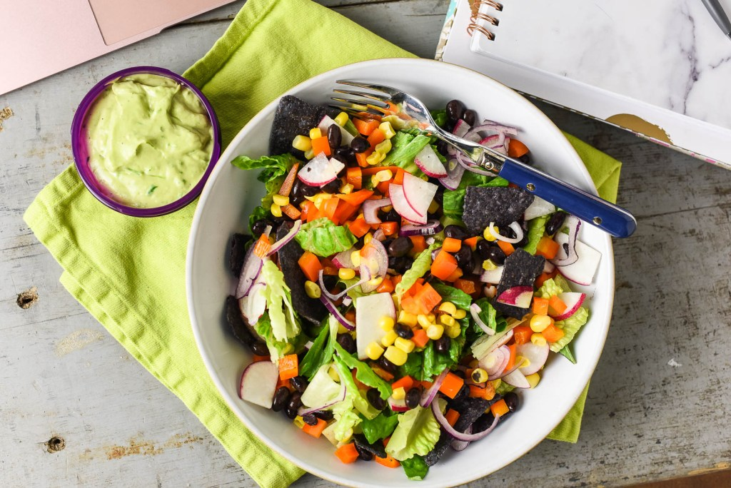 Southwest Rainbow Jar Salad
