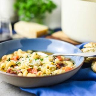 30-Minute Vegetarian Pasta Fagioli