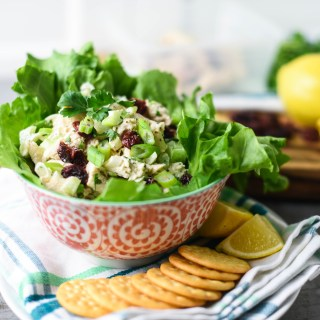 Cranberry Curry Greek Yogurt Chicken Salad