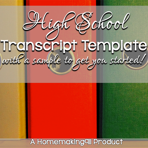 High Transcript Template | High School Transcript Template Sample Kit Homemaking 911
