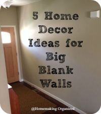 Perfect Big Empty Wall Decorating Ideas Ornament
