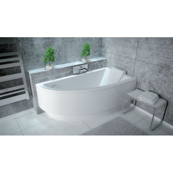 Offset Corner Bath PRACTICA SPACE SAVER 1500 Mm X 700 Mm