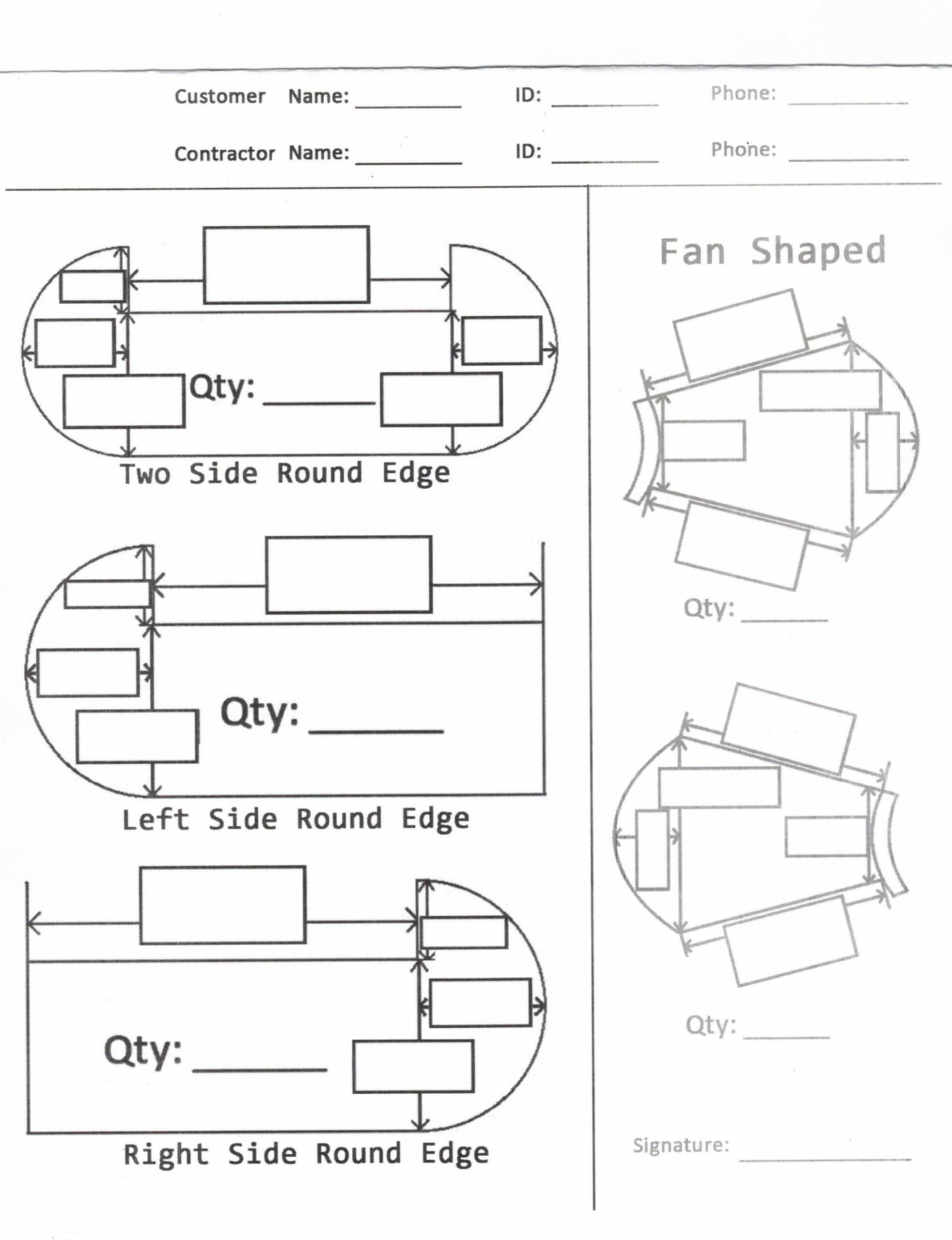 Custom Stair Tread Worksheet