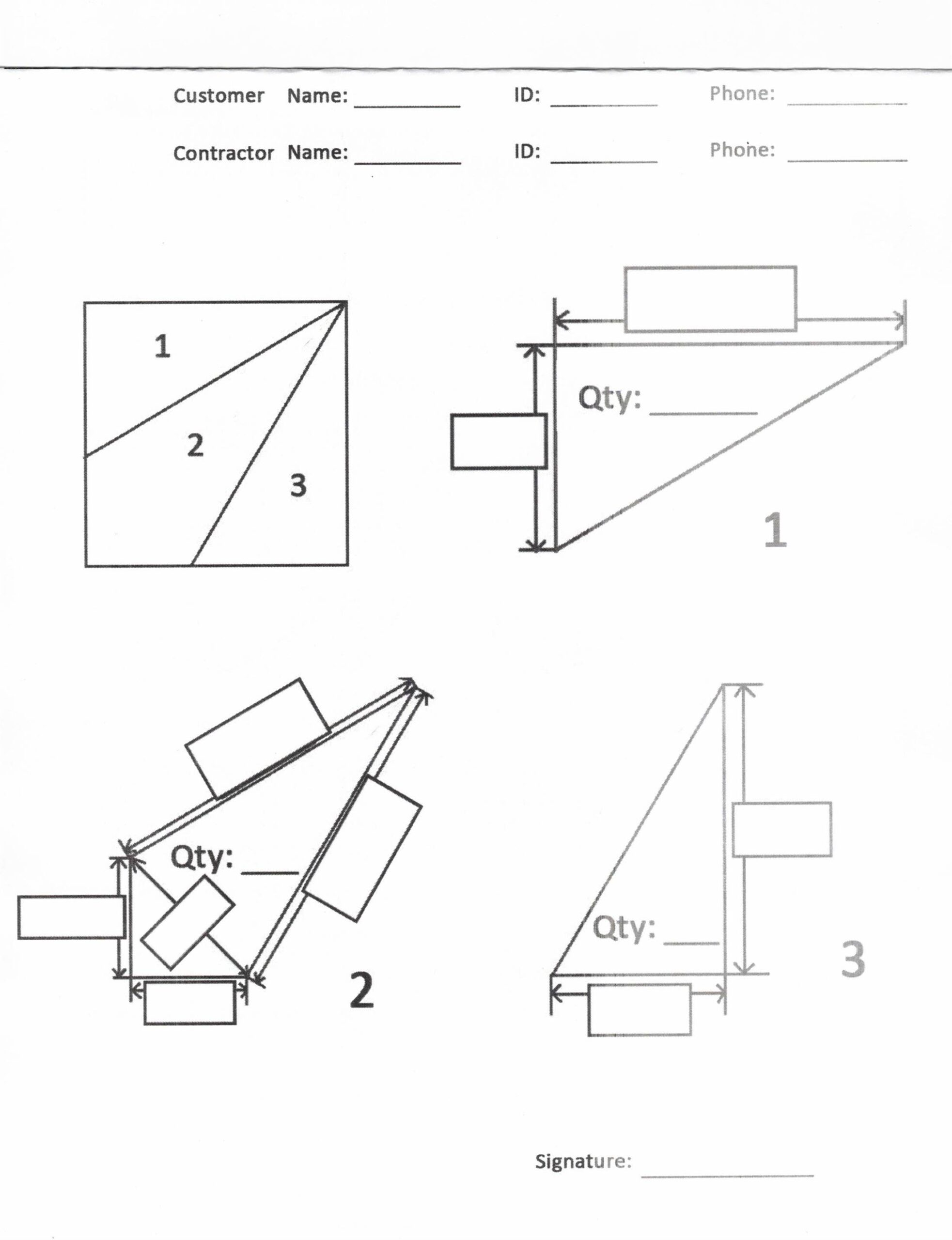 Custom Stair Tread Worksheet
