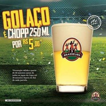 7af463389 3B Brasil vende Chopp 250 por apenas R$ 5,00 em todos os jogos da ...