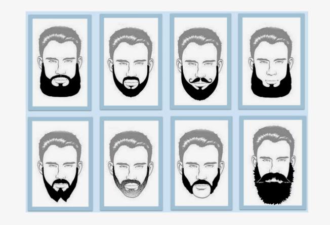 Homem No Espelho - Tipos de barbas.