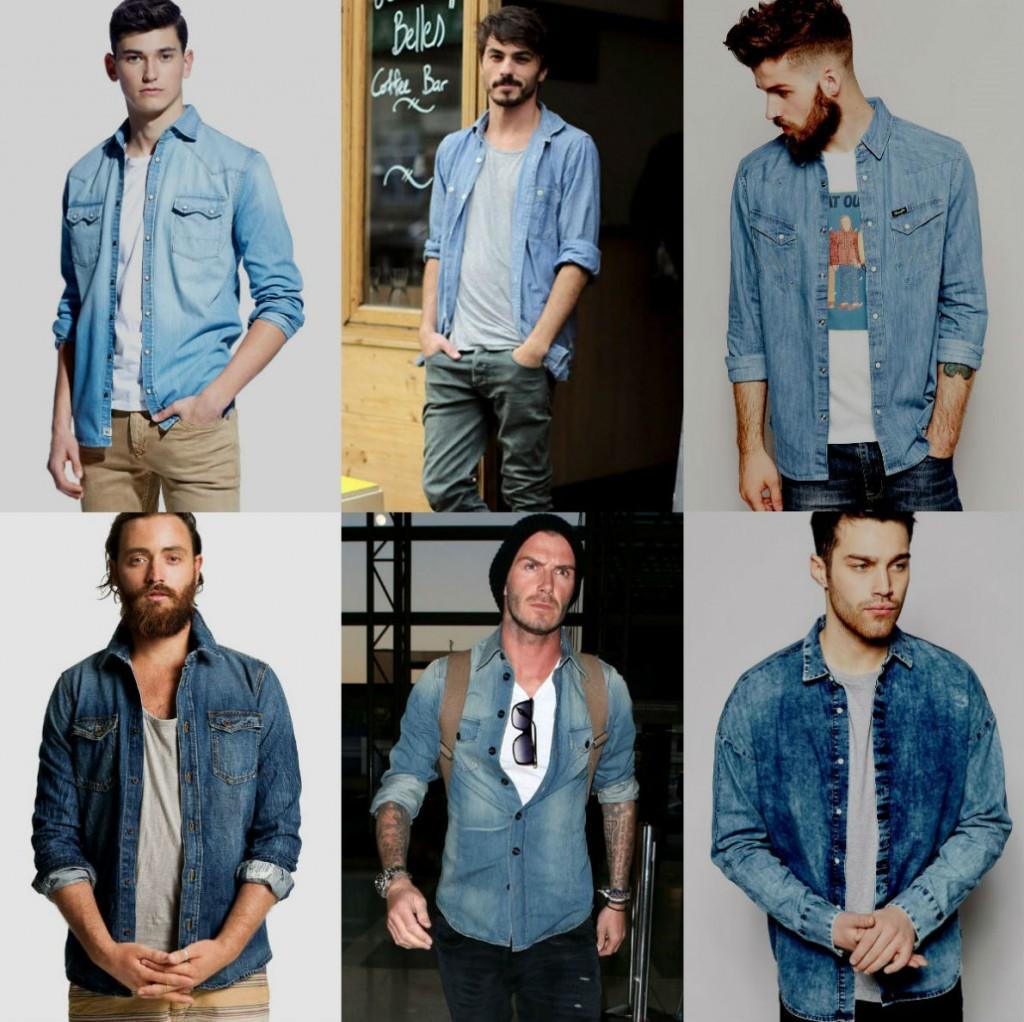 Homem No Espelho - Camisa jeans-7..