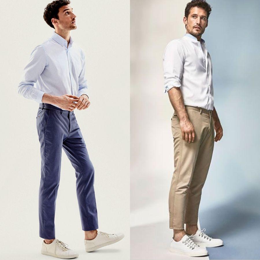 Homem No Espelho - Calça masculina curta - cropped