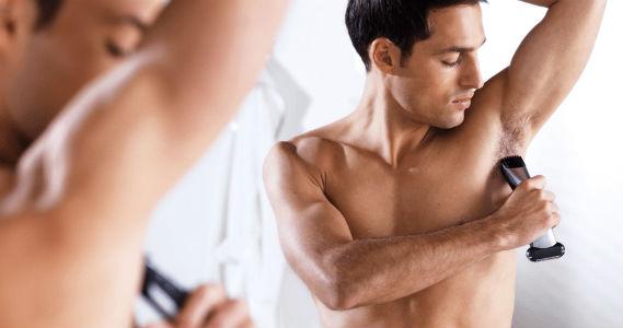 Homem No Espelho - Aparar pelos axilas homem - depilação masculina