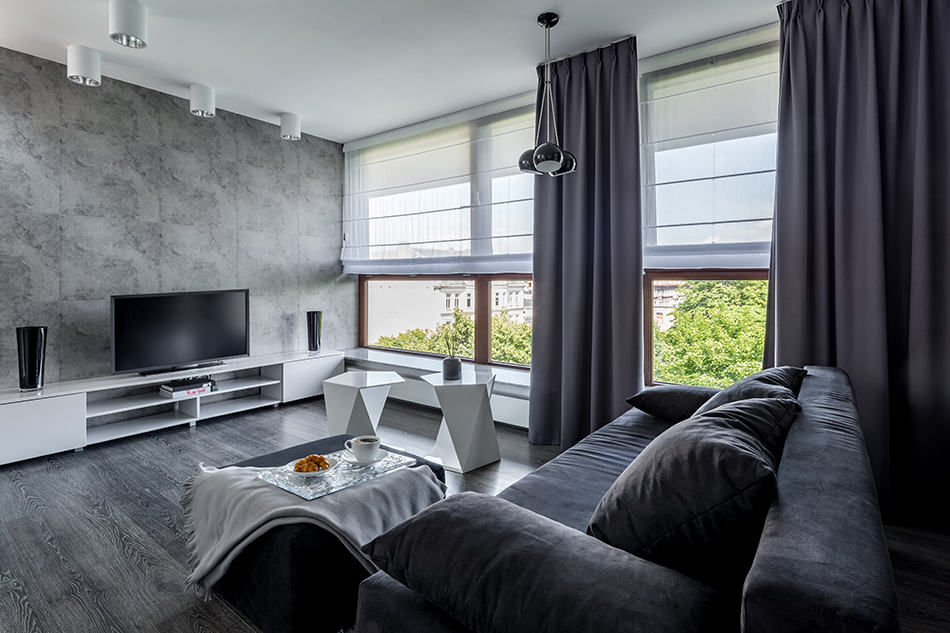 what color curtains are best for grey
