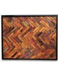 Chevron Design Copper Wall Sculpture | Home of Copper Art