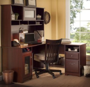bush cabot l shaped desk with hutch