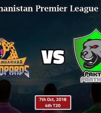 Nangarhar Leopards vs Paktia Panthers