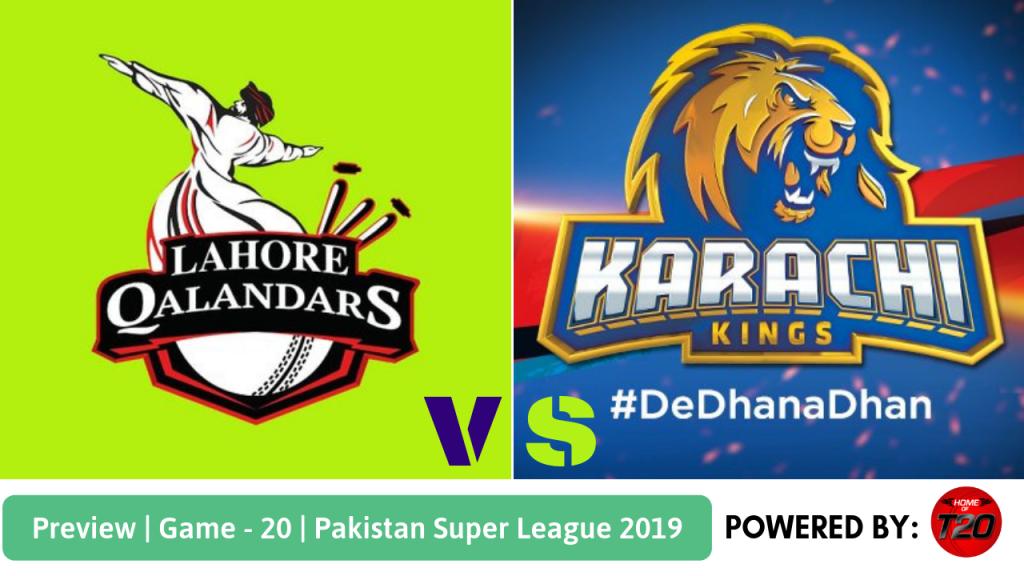 Match 20 Karachi Kings vs Lahore Qalandars