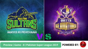 Pakistan Super League 2019 Match 8 Multan Sultans vs Quetta Gladiators