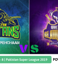 Pakistan Super League 2019 Match 8 Multan Sultans vs Quetta Gladiators