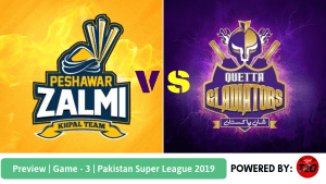 Preview: Pakistan Super League 2019, Match 3, Peshawar Zalmi vs Quetta Gladiators