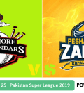 Pakistan Super League 2019 Match 25 Lahore Qalandars vs Peshawar Zalmi