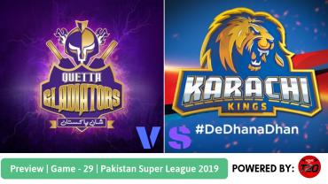 Preview: Pakistan Super League 2019, Match 29, Karachi Kings vs Quetta Gladiators