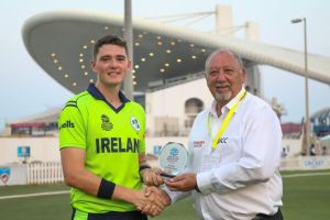 Gareth Delany impressed with the bat for Ireland as they defeated Oman