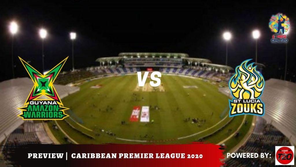 Semi-final 2 Guyana Amazon Warriors vs St Lucia Zouks