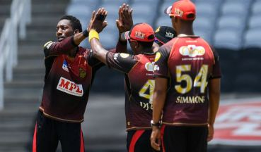 TKR remains unbeaten in the CPL 2020, One win away  from perfection