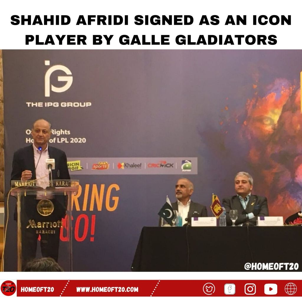 Shahid Afridi signed as an icon player by Galle Gladiators