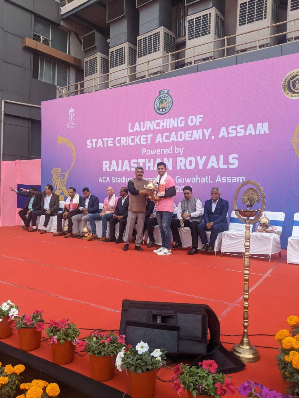 Rajasthan Royals inaugurates Cricket Academy in Guwahati's Barsapara stadium