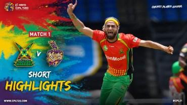 CPL 2021, Match 1 Highlights, Guyana Amazon Warriors vs Trinbago Knight Riders