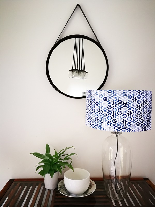 round studded mirror DIY