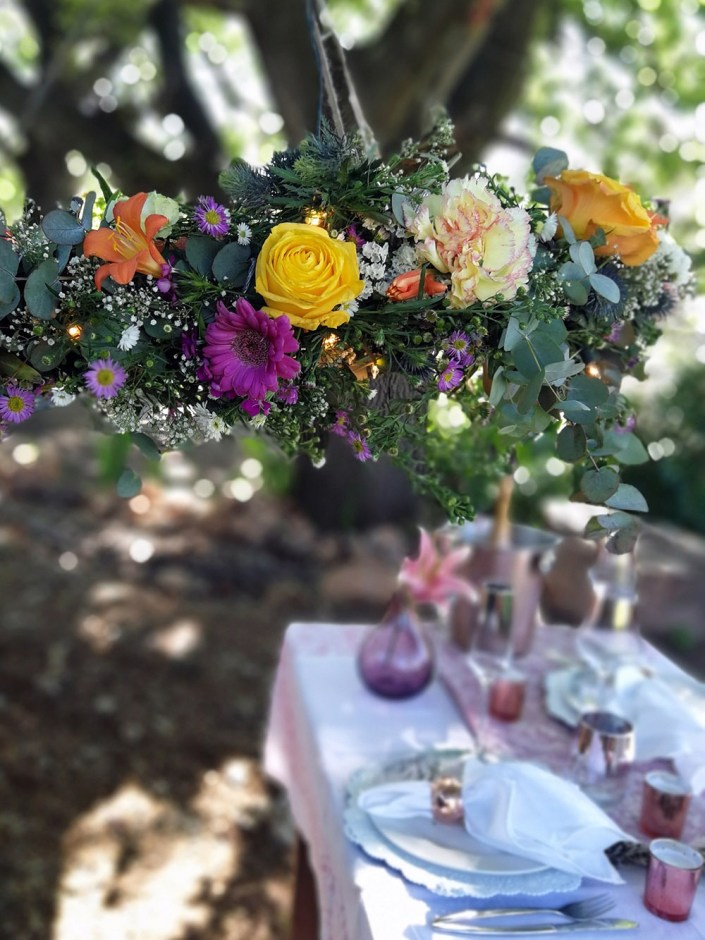 how-to-make-a-romantic-flower-chandelier