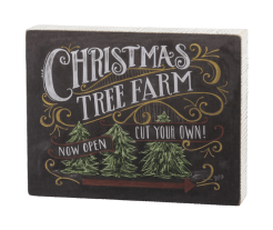 Christmas Tree Farm sign
