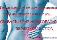 low back pain homeopathic remedy